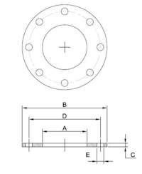 112 - Mild Steel ASA 150LB Backing Flanges